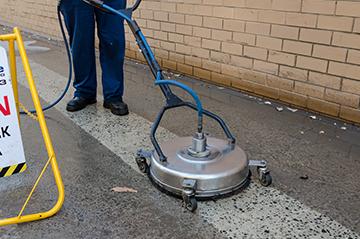 High pressure hot rotar washing